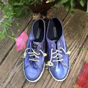 Sperry Blue Metallic Sneakers